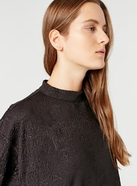 Crew neck - Black - Sweat-shirt - MİZALLE