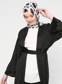 Black - Unlined - Abaya
