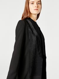 Black - Unlined - Jacket - MİZALLE