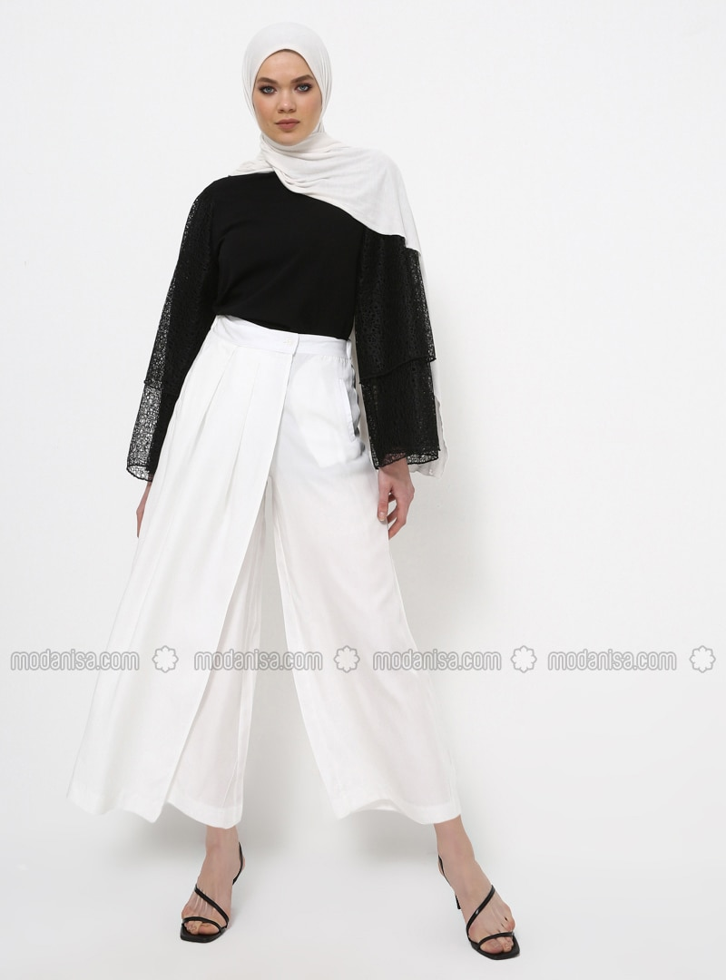 Ecru - Cotton - Culottes
