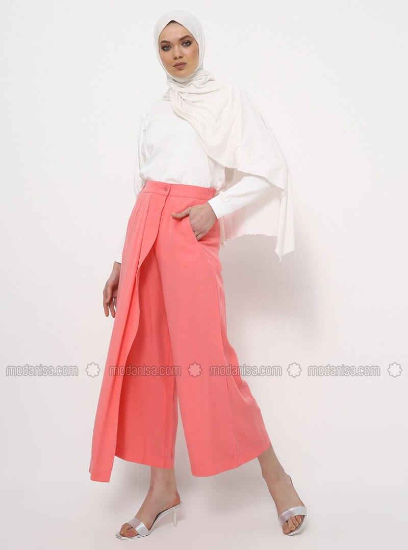 Coral - Cotton - Culottes