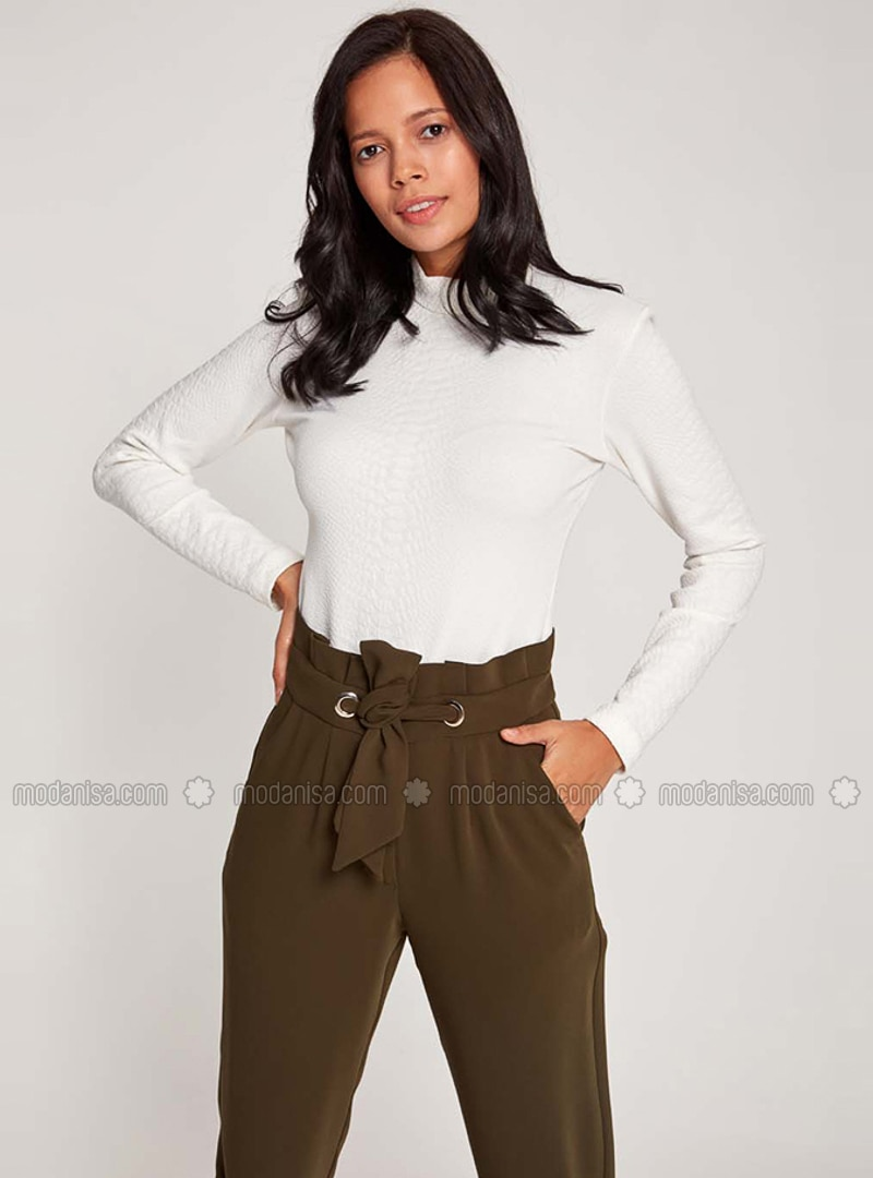 Khaki - Pants - MİZALLE