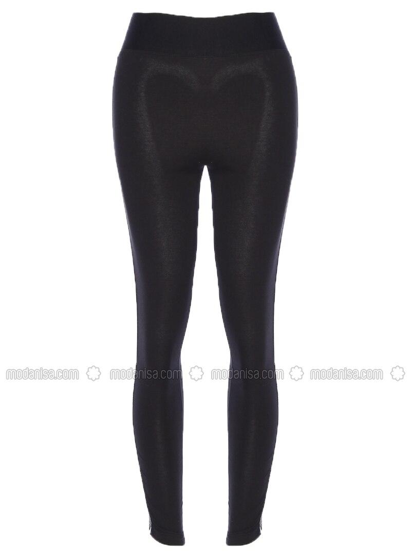 Black - Cotton - Legging