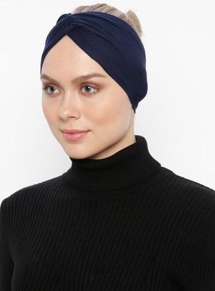 Navy Blue - Simple - Viscose - Bonnet