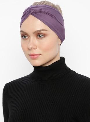 Purple - Simple - Viscose - Bonnet