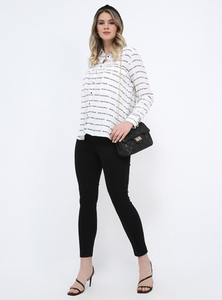 Black - Plus Size Pants - Alia