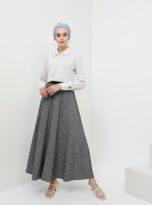 Anthracite - Unlined - Cotton - Skirt