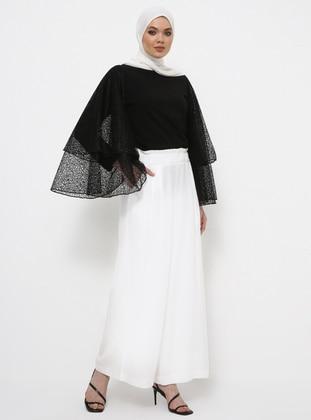 Ecru - Cotton - Culottes