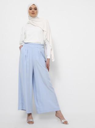 Blue - Cotton - Culottes