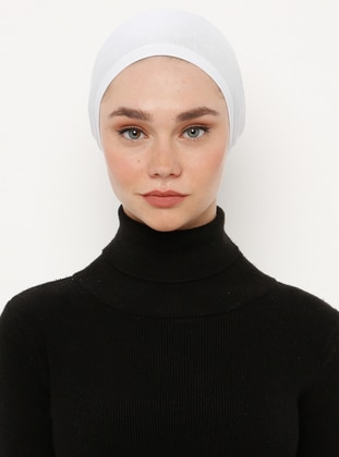 White - Lace up - Viscose - Bonnet