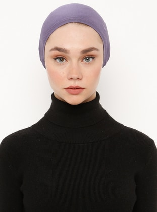 Plum - Lace up - Viscose - Bonnet