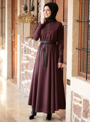 Plum - Unlined - Dress