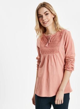 Pink - T-Shirt - LC WAIKIKI