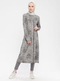Gray - Polo neck - Tunic