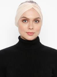 Beige - Simple - Viscose - Bonnet