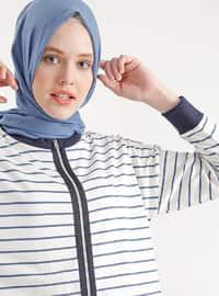 Navy Blue - Stripe - Jacket