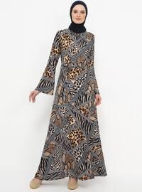 Minc - Multi - Crew neck - Unlined - Dress