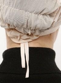 Beige - Lace up - Viscose - Bonnet