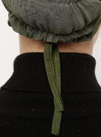 Khaki - Lace up - Viscose - Bonnet