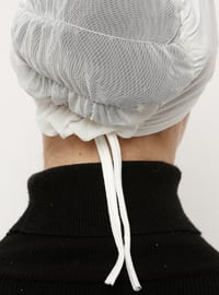 Cream - Lace up - Viscose - Bonnet