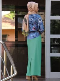 Mint - Fully Lined - Cotton - Skirt