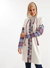 Red - Plaid -  - Jacket