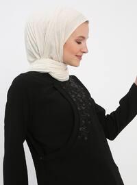 Black - Unlined - Polo neck - Topcoat