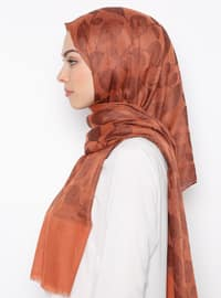 Terra Cotta - Printed - Cotton - Shawl