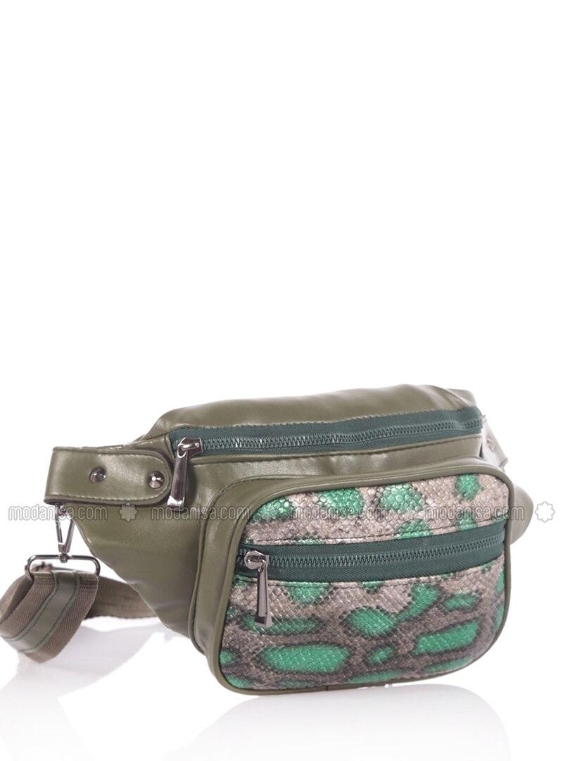 Khaki - Satchel - Bum Bag