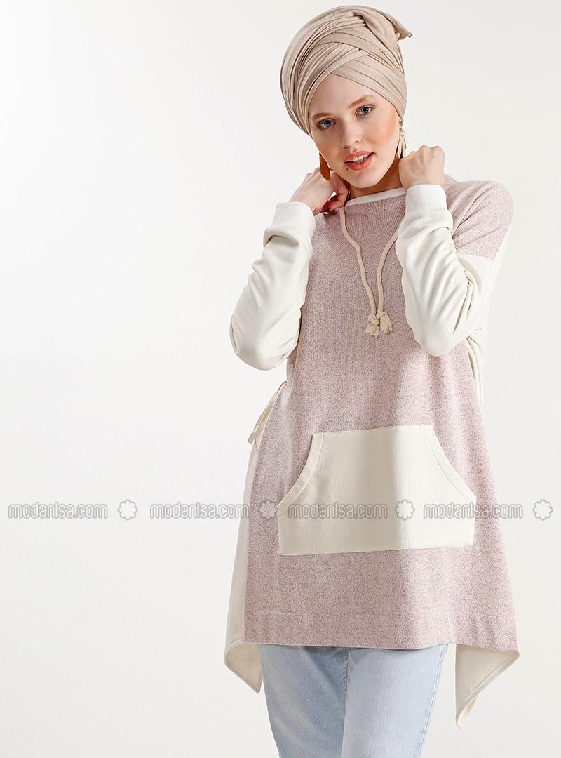 Beige - Cotton - Tunic