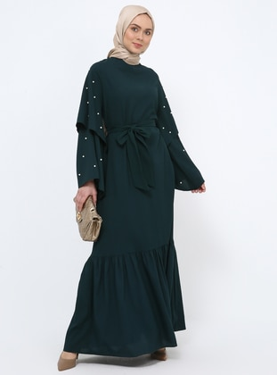 Emerald - Crew neck - Unlined - Dress - Tavin