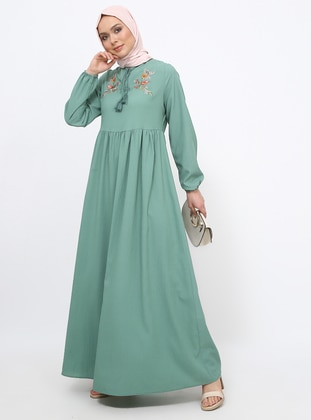 Green Almond - Crew neck - Unlined - Dress