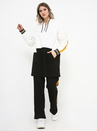 Black - White - Ecru - Mustard - Unlined - Cotton - Plus Size Suit