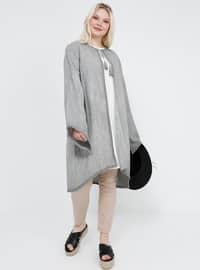 - Astarsız kumaş - Yuvarlak yakalı - Pamuk - Büyük palto