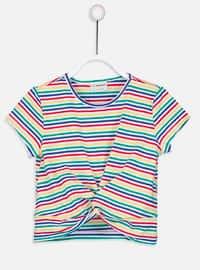 Multi - Stripe - Crew neck - Girls` T-Shirt