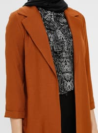 Tan - Unlined - Shawl Collar - Jacket