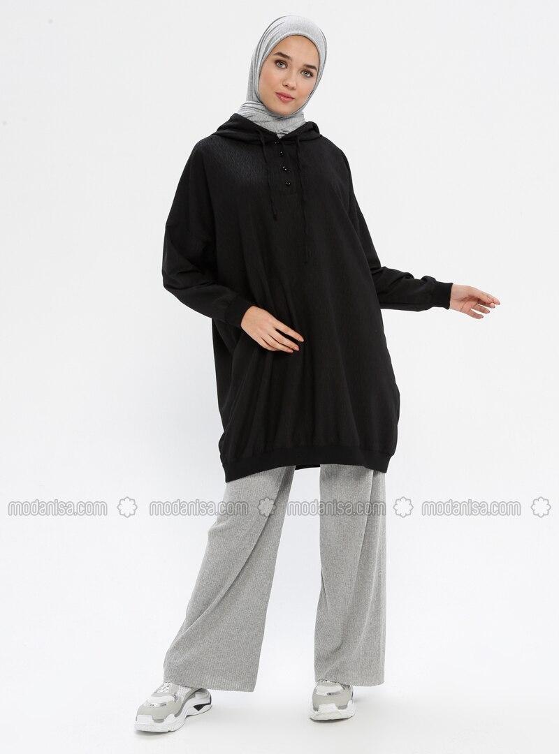 Gray - Cotton - Pants