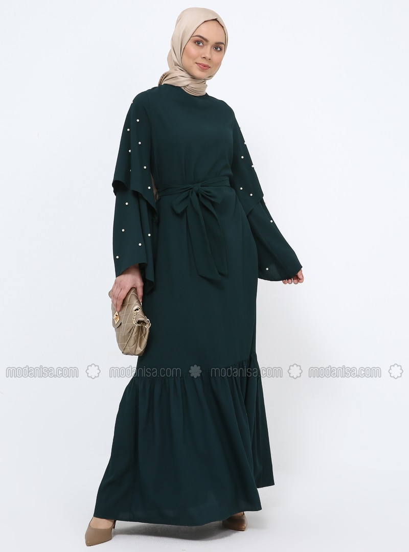 Emerald - Crew neck - Unlined - Dress