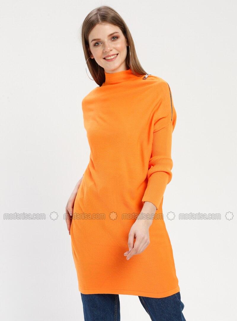 cd34ca3cca23 Orange - Crew neck - Acrylic - - Jumper