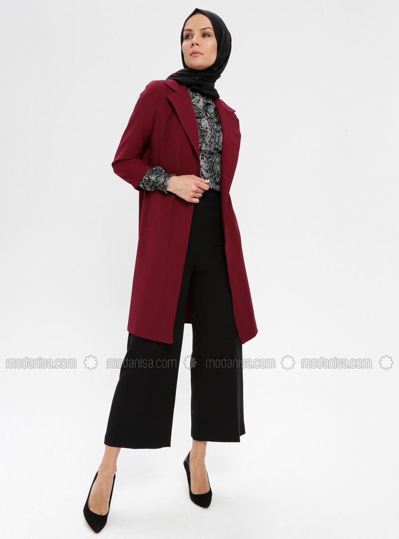 Plum - Unlined - Shawl Collar - Jacket