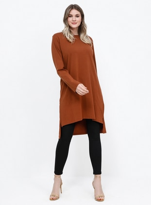 - Crew neck - Cotton - Crew neck - Cotton - Tunic
