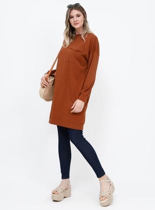 - Crew neck - Cotton - Plus Size Tunic