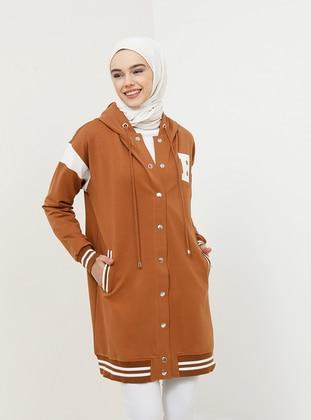 Mustard - Unlined - Cotton - Topcoat