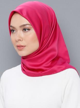 Pink - Fuchsia - Plain - Scarf