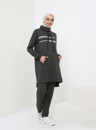 Anthracite - Polo neck - Tracksuit Set