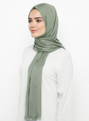 Green Almond - Plain - Pashmina - Viscose - Shawl