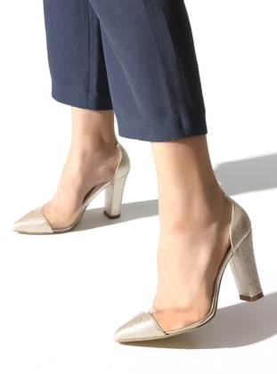 Gold - High Heel - Sports Shoes