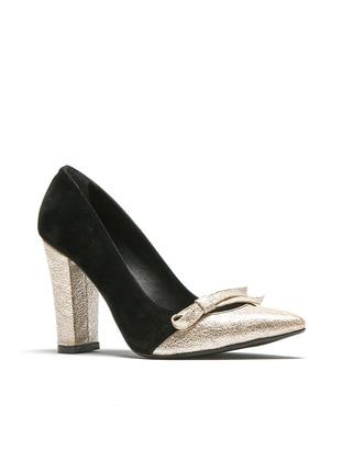 Black - Gold - High Heel - Sports Shoes