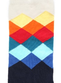 Navy Blue - Multi - Socks