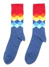 Blue - Multi - Socks
